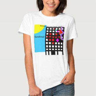 Heart,lips, eyes & sunshine urban abstract design. shirt