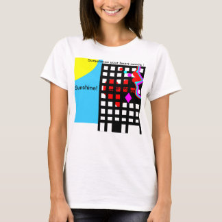 Heart,lips, eyes & sunshine urban abstract design. T-Shirt