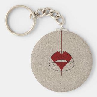Heart Lips Key Ring