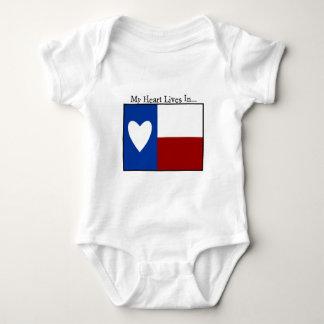 Heart lives in Texas Baby Bodysuit