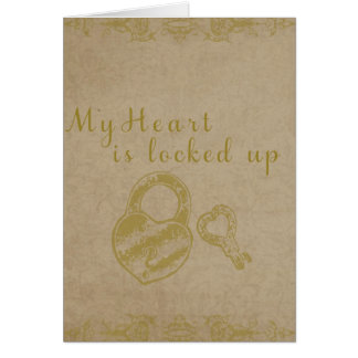 Heart Locked Up Card