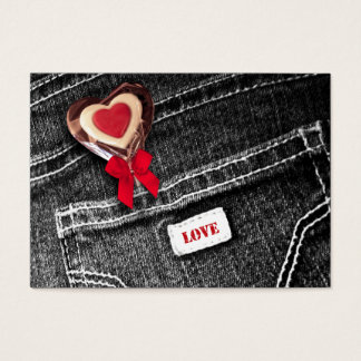Heart Lollipop. Valentine's Day Gift Tag