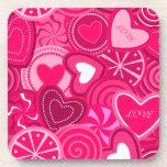 Heart Lollipops Design Cork Coster Beverage Coaster