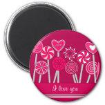 Heart Lollipops Design magnet
