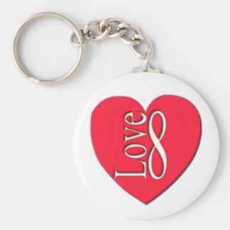 Heart Love (8) Infinity Key Ring