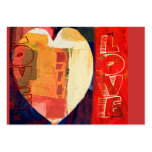 Heart Love Abstract Valentine's Day Heart ACEO Pack Of Chubby Business Cards