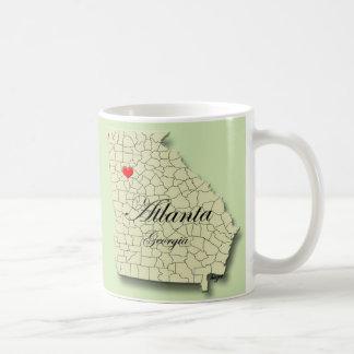 Heart, Love Atlanta, Georgia. Map , Mug