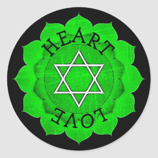 Heart Love Chi Green Chakra Stickers