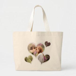 Heart Love Cute Custom Romantic Photo Gifts Jumbo Tote Bag