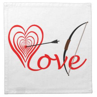 Heart love Dartscheibe with arrow and sheet Napkin