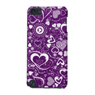 Heart Love Doodles Purple-White Samsung iPod 5g iPod Touch 5G Cases