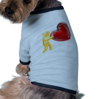 Heart love gold person ringer dog shirt