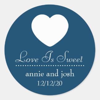 Heart Love Is Sweet Labels (Navy Blue)