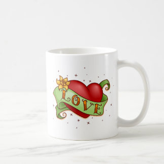 Heart Love Classic White Coffee Mug