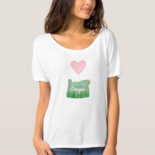 Heart (Love) Oregon State Green Valley T-Shirt