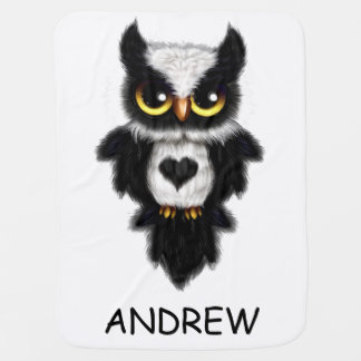 Heart Love Owl Fleece Blanket Personalized Receiving Blankets