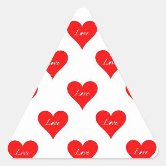 Heart Love Pattern Triangle Stickers