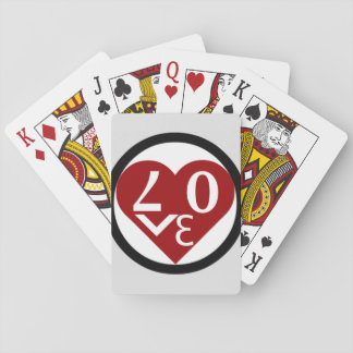 Heart Love Playing Cards