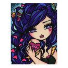 Heart Love Potion Mermaid Fairy Fantasy Art Girl Postcard