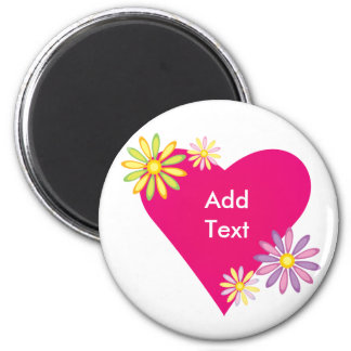 Heart Love Romance Gifts and Gear 6 Cm Round Magnet
