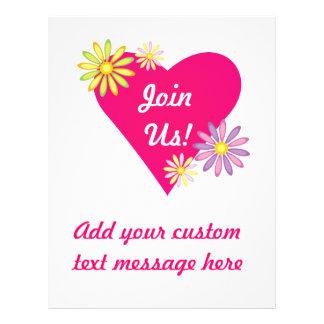 Heart Love Romance Stationery 21.5 Cm X 28 Cm Flyer