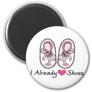 Heart Love Shoes Already 6 Cm Round Magnet