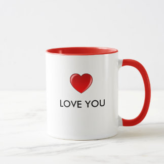 Heart LOVE YOU Mug