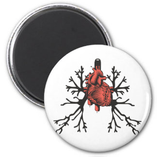 Heart & Lungs 6 Cm Round Magnet