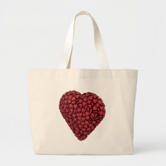 Heart made of hearts jumbo tote bag