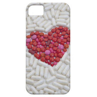 Heart made of red pills barely there iPhone 5 case