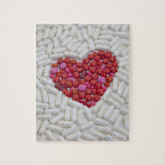 Heart made of red pills jigsaw puzzle