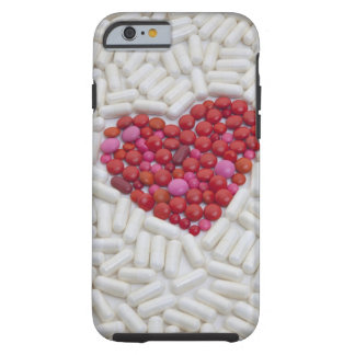 Heart made of red pills tough iPhone 6 case