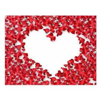 Heart Made of Rose Petals Post Card