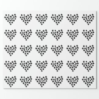 Heart Made of Stars Wrapping Paper