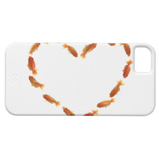 Heart made with goldfishes iPhone 5 covers