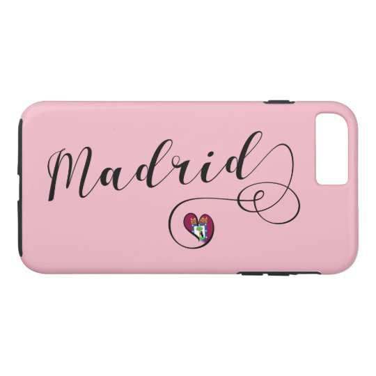 Heart Madrid Cell Phone Case, Spain iPhone 8