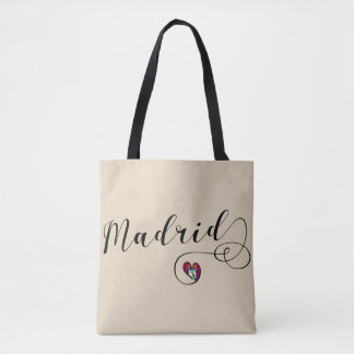 Heart Madrid Grocery Bag, Spain Tote Bag