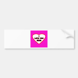 Heart Magenta Transp Filled The MUSEUM Zazzle Gift Bumper Stickers