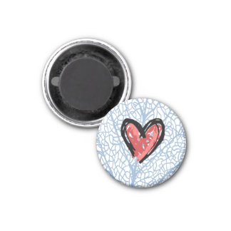 Heart magnet round small