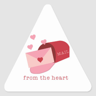 Heart Mail Triangle Sticker