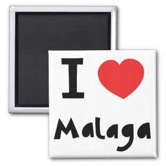 Heart Malaga Square Magnet