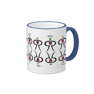 Heart Man Ringer Coffee Mug
