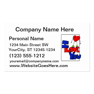 Heart man on I love you text Business Card