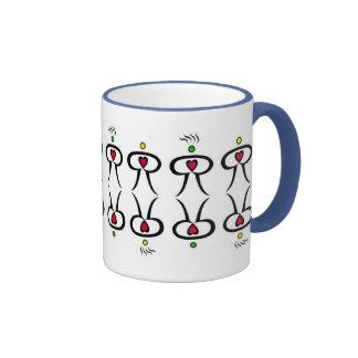 Heart Man Ringer Mug