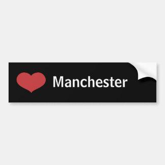Heart Manchester Car Bumper Sticker