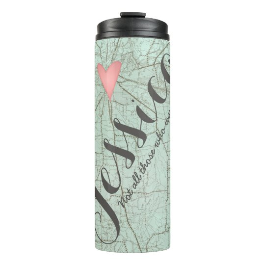 Heart Map Water Bottle Insulated