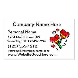 heart maracas music love image business card templates