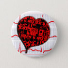 HEART MEDICAL SPECIALTIES CARDIOGRAM 6 CM ROUND BADGE