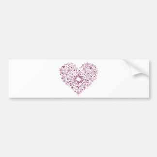 heart mix graphic design bumper stickers