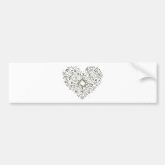 heart mix graphic design bumper sticker